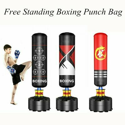 NEW 5.4FT Free Standing Boxing Punch Bag Stand MMA Kick Martial Art Training UK