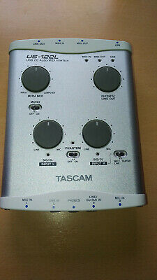 Tascam US-122L Pro Audio/MIDI Interface Used Good condition-Free shipping