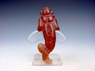 Old Nephrite Jade Stone Carved HongShan Culture Ancient Fig w/ Tail #12231905