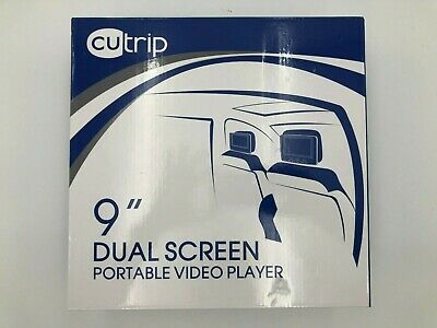 cutrip 9-inch Dual Screen Portable DVD player for automobiles