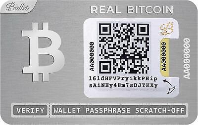 Ballet Crypto Physical Bitcoin Wallet