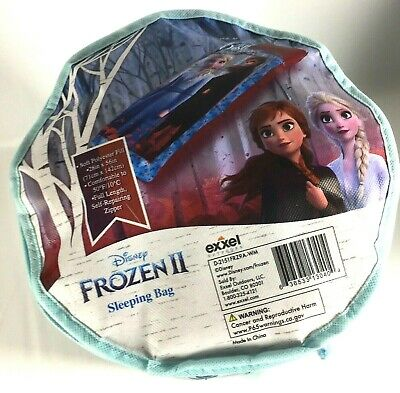 NEW Disney Frozen II Anna And Elsa Full Length Zippered Sleeping Bag, With Tags