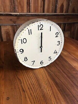 VINTAGE JUNGHANS WALL FACTORY WORKSHOP CLOCK 32cm approx. MADE IN GERMANY