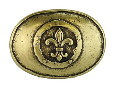 Medieval Buckle Clasp Belt Buckle Rustic Lilie Antique Brass New