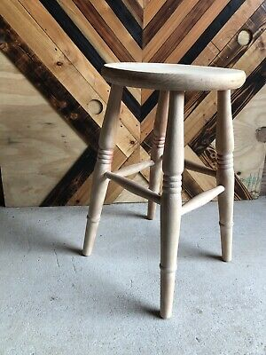 Vintage Beech Wood Stool Wonderful Excellent Quality Item