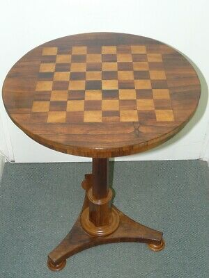 Antique Chess Table Late Regency  William IV  Rosewood  Games Draughts Checkers