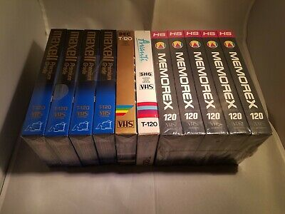 Blank VHS Lot 11 Total Sealed