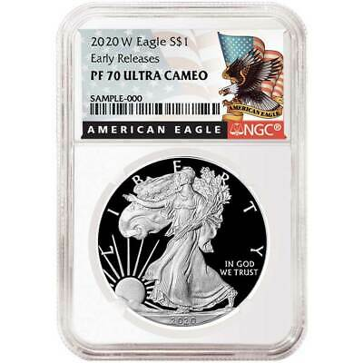2020-W Proof $1 American Silver Eagle NGC PF70UC Black ER Label