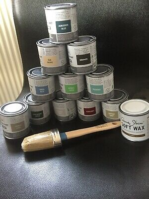 Annie Sloan Paint Brush for Chalk Paint + small tin  DARK Wax & Paint