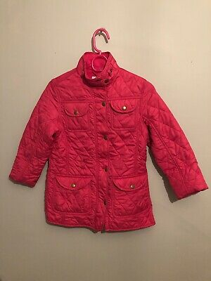 Next Girls Pink Padded Fitted Waterproof Coat  Age 9-10 Years