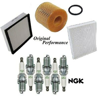 Tune UP KIT Cabin Air Oil Filters Spark Plugs for BMW 323i E46 1999-2000