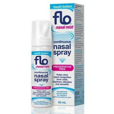 Flo Nasal Mist Spray 50Ml Helps Clear Nasal Congestion From Colds Hayfever