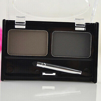 2 Colors Natural Eyebrow Powder Cosmetic Brush Eyebrow Makeup Palette Set