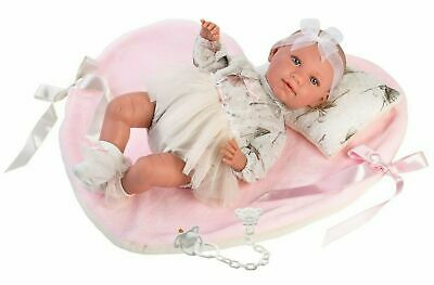 Llorens Doll Amelia Crying Infant Baby Girl with Blanket 42cm New 74062