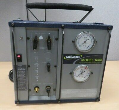 BACHARACH Model 3600 High Performance Oilless Refrigerant Recover System