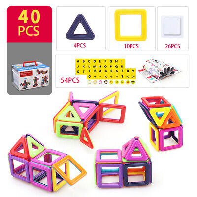 3D 116X DIY Educational Magnetic Blocks Building Kids Construction Toy Magformer