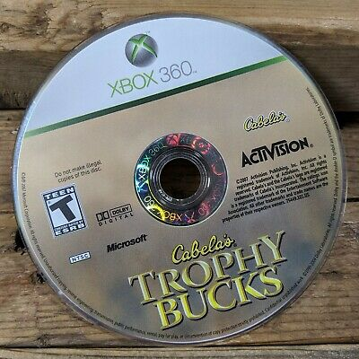 Cabela's Trophy Bucks (XBOX 360) Rare NTSC ~ Hunter Simulation *DISC ONLY*