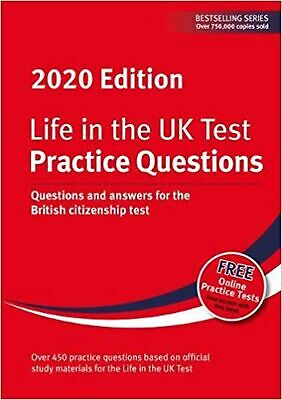 Life in the UK Test: Practice Questions 2020: Questions an... Paperback Book NEW