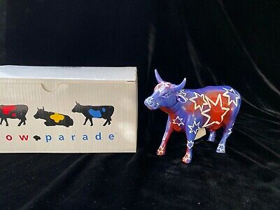 Cow Parade Collectible Cows, Rare Moolennium, 2000 Retired #9157