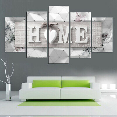 5 Pcs Modern Art Oil Painting Canvas Print Wall Art Picture Home Unframed Decor