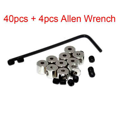 40pcs Length Pin Keepers Locking Backs Savers Holder Fastener Allen Wrench New