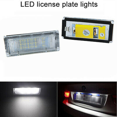 A Pair LED License Plate Number Light Lamp for BMW 3 Series E46 4D 1998-2005 ha
