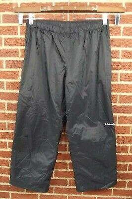 Columbia Mens Rain Waterproof Pants XXL 2XL Black Active 100% Nylon 40 38