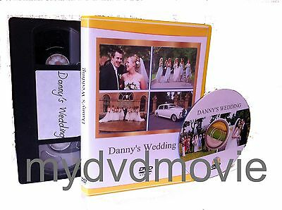 Video Tape To Dvd Transfer Service (With Photo Covers On  Dvd Case)