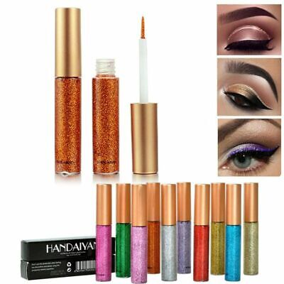Shimmer Liquid Pigment Metallic Eyeliner Makeup Eyeshadow Glitter Long Lasting