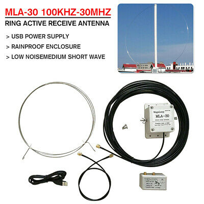 Ring MLA-30 Loop Active Receive Antenna 100kHz - 30MHz For Shortwave Radio SW MW