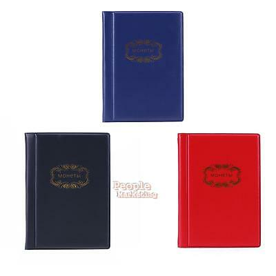 120 Coin Banknote Collection Holder Pocket Money Tokens Storage Album Book Cover
