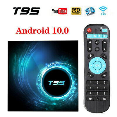 Android 10.0 TV BoxT95 Allwinner H616 6K@30fps HD Cortex-A53 Smart Media Player