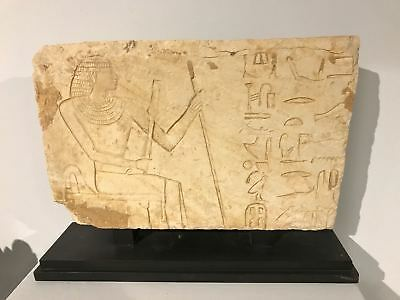 Rare Ancient Egyptian Relief in Hard Limestone VI Dynasty, Kingdom of Pepi II
