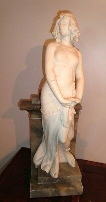 Amazing Antique  Marble  Sculpture  of Cleopatra Signed  19th century