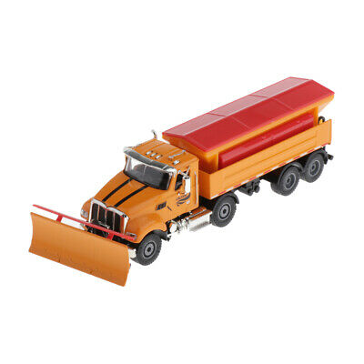 1/50 Scale Alloy Snow Plow Salt Truck Construction Engineering Car Kids Xmas Toy