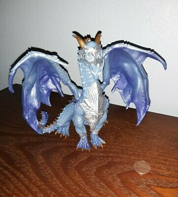 "2015 Safari Ltd. GUARDIAN DRAGON Blue Toy Figure 5.5"" Tall"