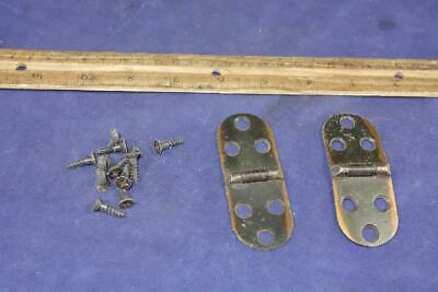 Vintage Singer Sewing Machine Cabinet Hinges Set w/ Mounting Screws !