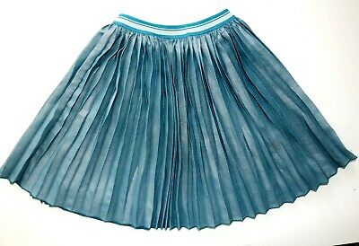 Next - Teal Blue Shimmer Dazzle Pleated Party Midi Skirt - Girls 6 Years