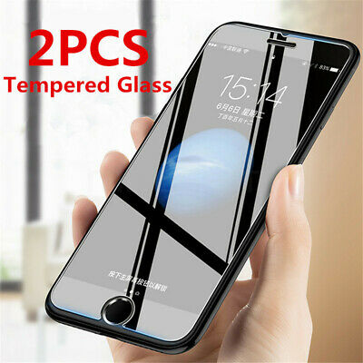 2X Tempered Glass Screen Protector for iPhone 7 Plus 8 Plus 6 Plus CRYSTAL CLEAR