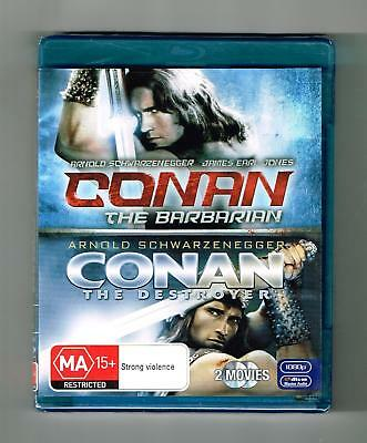 Conan The Barbarian / Conan The Destroyer Blu-ray 2-Disc Set Brand New & Sealed