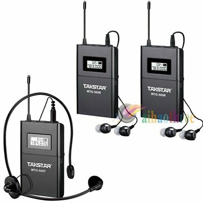 TAKSTAR WTG-500 Wireless System Tour Guide Teaching Transmitter + 2Pcs Receiver