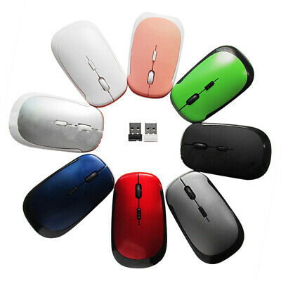 Mouse Wireless Gaming Ultra Slim Ottico Senza Fili Mini USB 2.4G Per PC Notebook