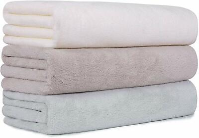 3/6x Soft Egyptian Cotton Towels Large Bath Sheet Bath Towel Washcloth 140*70cm