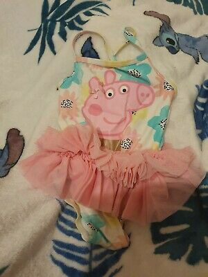 Lovely Girls George Peppa Pig Swimming Costume Age 12-18 Months