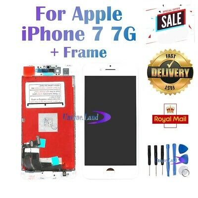 Replacement For iPhone 7 7G LCD Display Touch Screen Digitizer White Frame UK