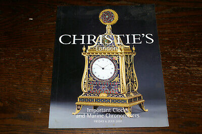 Christie's Sales Catalogue Important Clocks And Marine Chronometers