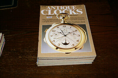 20  Issues Of Antique Clocks Circa 1980'S, 1990'S Fair To Good Condition