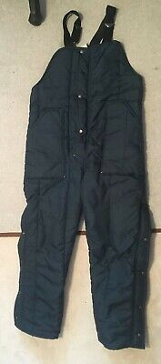 Walls Blizzard Pruf Men's Navy Blue Insulated Bibs Snow Outdoor Pants Size M