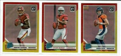 2019 Panini Donruss Optic Football RED YELLOW PRIZM RC's Rated Rookies You Pick
