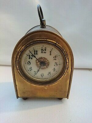 Antique American Brass Carriage Clock